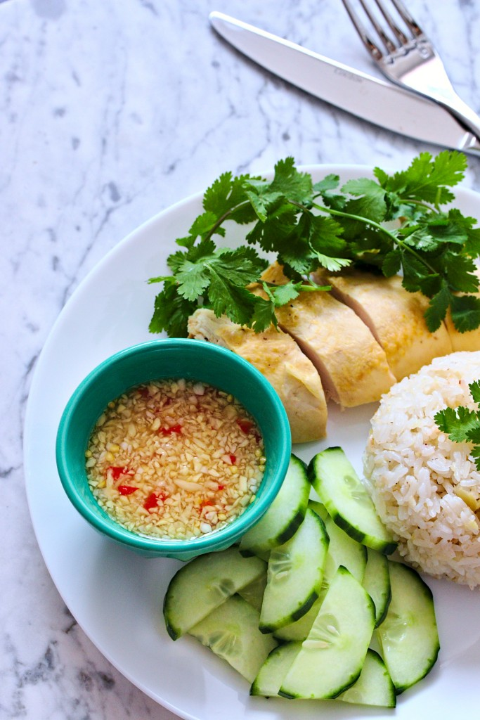 Hainanese Chicken Rice Cơm Ga Hải Nam Plated Palate